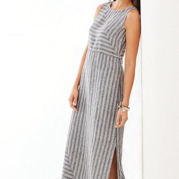 cdf03f2ca953 J. Jill Dresses   Skirts - J. JILL Love Linen Striped Maxi Dress
